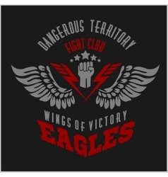 Eagle wings - military label badges and design vector