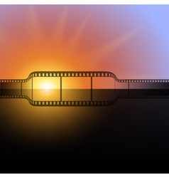 film strip against the flash of light background vector image vector image