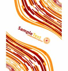 fire modern abstract background vector image vector image