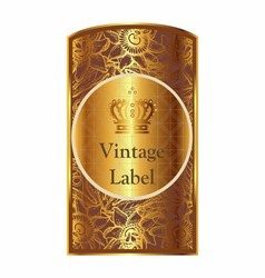 Golden label vector image vector image