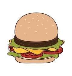 Hamburguer fast food burguer vector