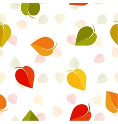Isolated abstract colorful leaves background vector