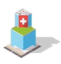 Isometric hospital high-tech vector