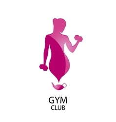logo fitness club vector image vector image