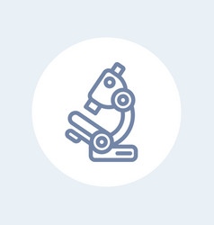 microscope line icon isolated over white vector image