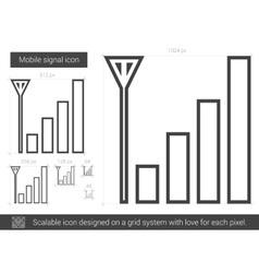 Mobile signal line icon vector image vector image