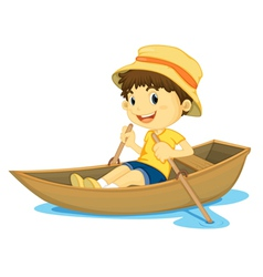 Rowing boy vector image
