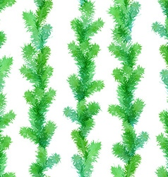 Seamless evergreen pattern vector