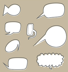 sketchy bubbles speech vector image vector image