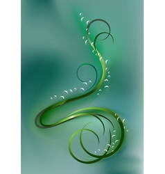 Swirling bright curves and bubbles vector image