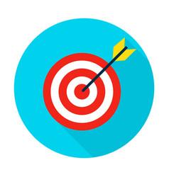 target flat circle icon vector image