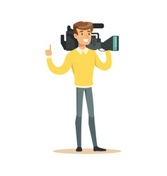 Television video operator with professional vector