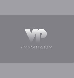 Vp v p pastel blue letter combination logo icon vector