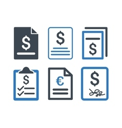 Invoice Flat Icons vector image
