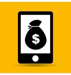 hand save bag money icon vector image