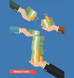 Fund manager holding cash money vector