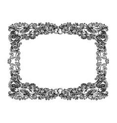 Vintage wedding vignette frame vector