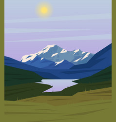Colorful drawing nature landscape background vector