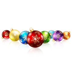 Isolated christmas balls vector