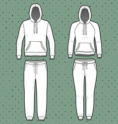 Hoodi and sweatpants set vector