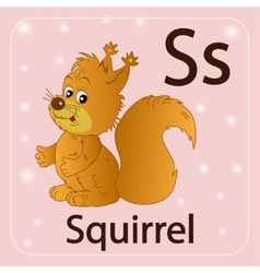 The english letter s squirrel vector