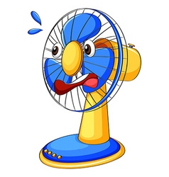 Fan with facial expression vector