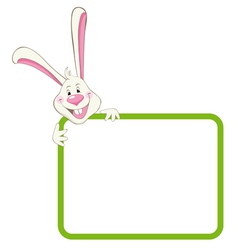 Label frame rabbit vector