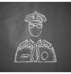 Police officer icon vector
