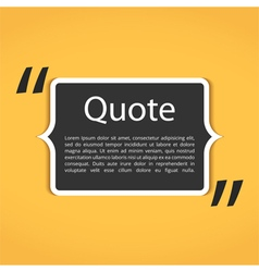 Text Box with Quotes vector image