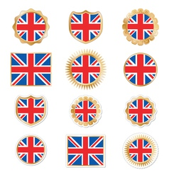 uk badges and stickers vector image