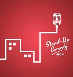 Stand up comedy vector