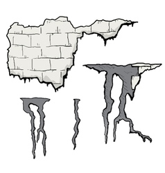 Broken wall vector