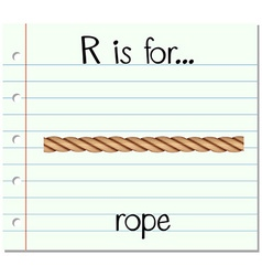 Alphabet r is for rope vector