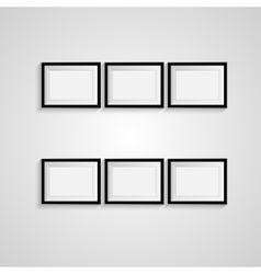 Black blank picture frame template poster vector