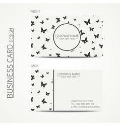 Simple business card design template vector