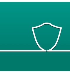 Symbol shield icon defense and security on a vector