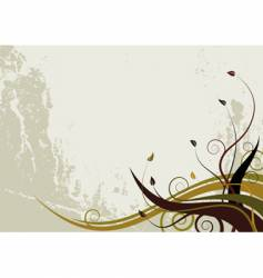 abstract floral background grunge style vector image vector image