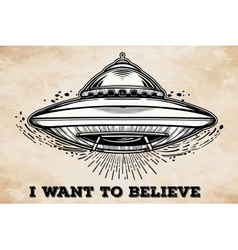 Alien Spaceship UFO Background vector image