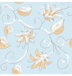 Autumn blue seamless pattern vector image vector image
