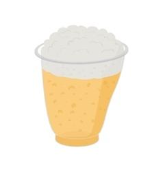 Beer in plastic cups vector image
