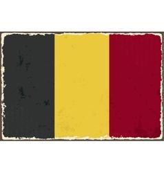 Belgian grunge flag vector image