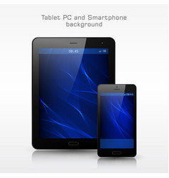 black mobile phone and tablet pc template vector image vector image
