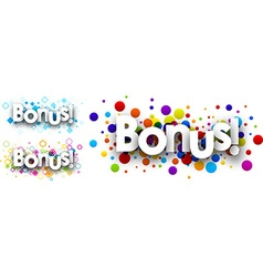 Bonus colour banners vector image