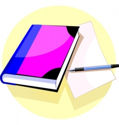 book and pen vector image vector image