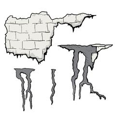 Broken wall vector