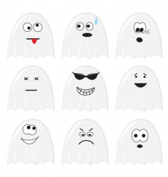 cartoon ghosts vector image