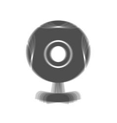 Chat web camera sign gray icon shaked at vector