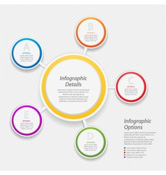 Colourful infographic circle background vector
