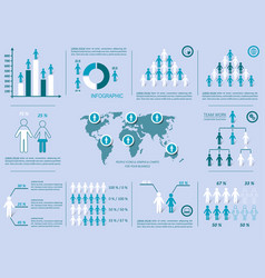 Demographic people icons vector