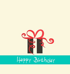 Flat Design Happy Birthday Retro Simple with vector image